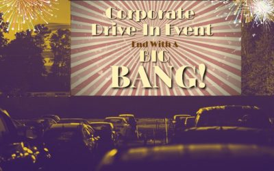 Corporate DRIVE-IN Employee Recognition Event Complete With Fireworks